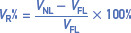 Percent voltage regulation: formula for three phase generator