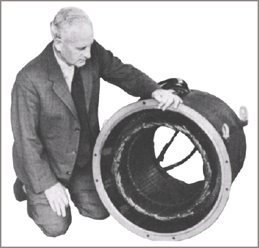 Stator for a four-pole 415 V three-phase 350 kVA generator