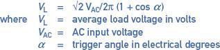 load voltage and trigger angle