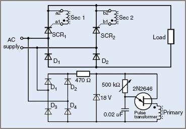 Single-phase half-controlled bridge rectifier