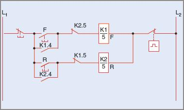 Control circuit of Figure 7 drawn with a horizontal layout