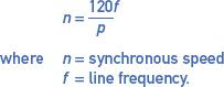 synchronous speed formula equation