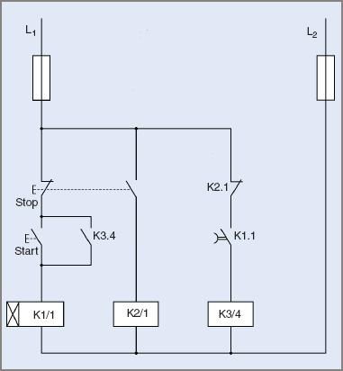 Control circuit diagram for under-voltage protection of electric motor