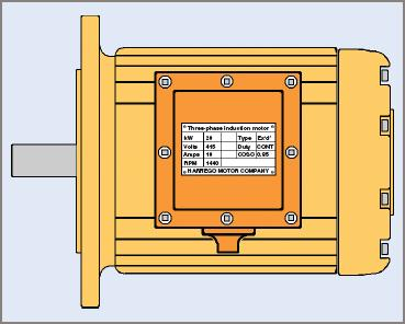 Typical flange-mounted flameproof electric motor