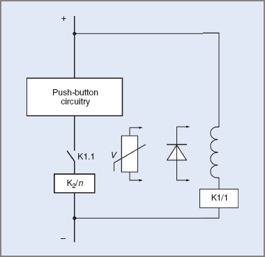 Field failure relay connections