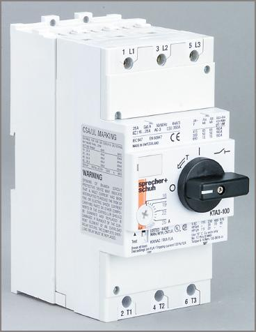Combined electric motor circuit breaker and isolator