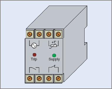 Typical thermistor relay