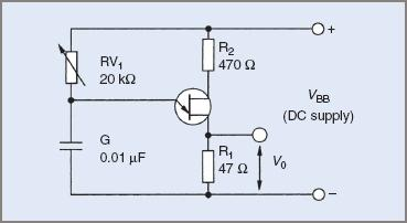 UJT relaxation oscillator circuit diagram