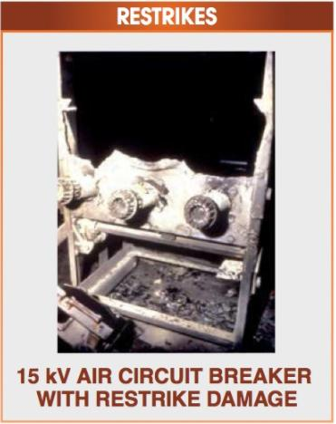 circuit breaker restrikes diagram